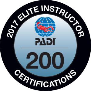 Phillip Hetherington PADI Elite Instructor Award